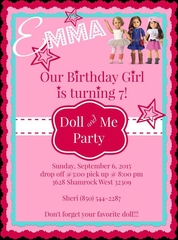 American Girl Tea Party Invitation Wording