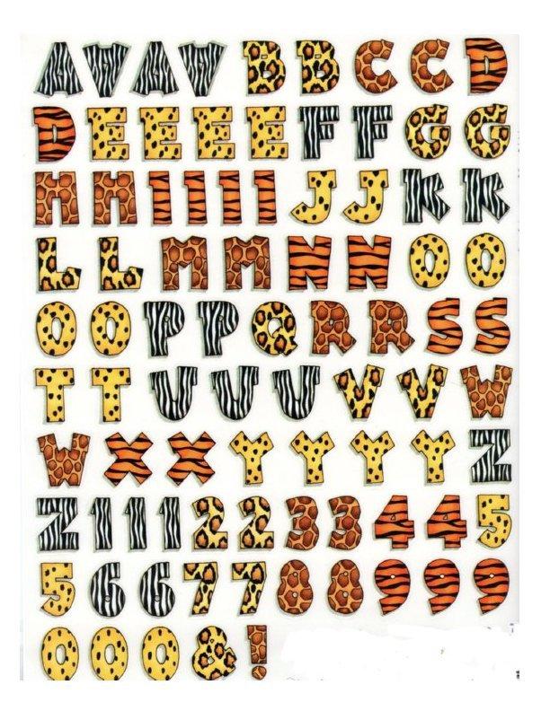 animal print block letters