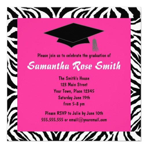 Animal Print Graduation Invitations