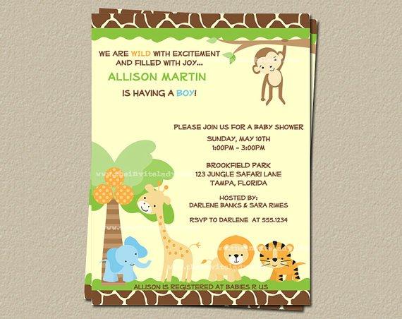 Animal Print Invitation Templates Free