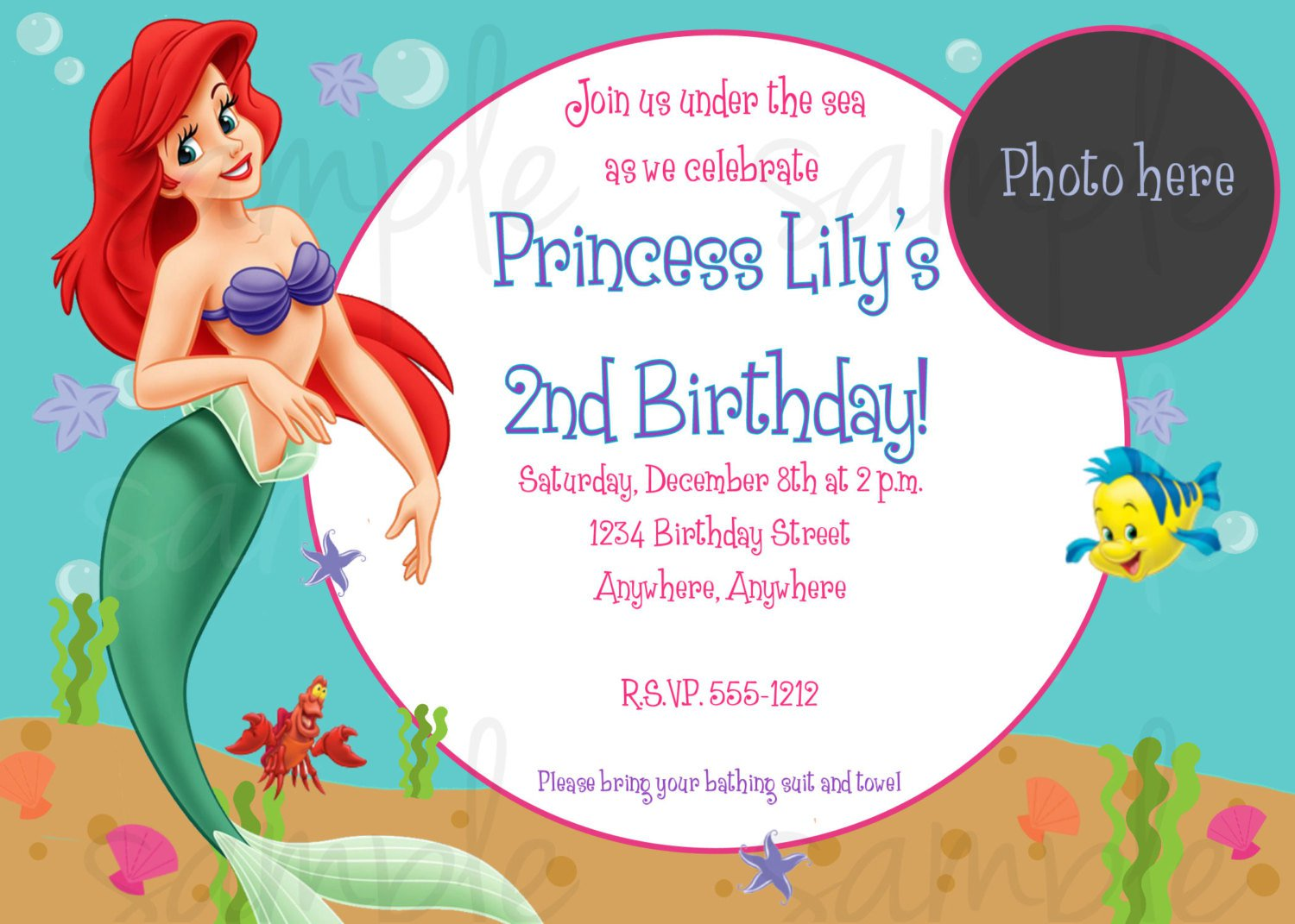 Ariel Invitation Templates