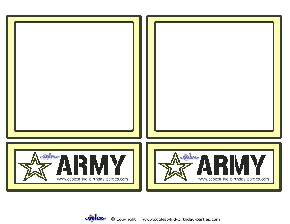 Army Birthday Party Invitation Template