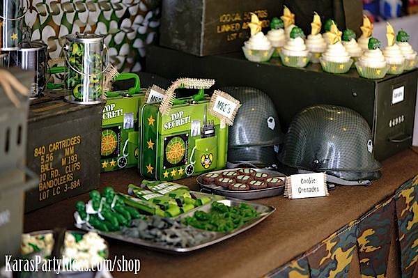 Army Themed Birthday Party Food Ideas