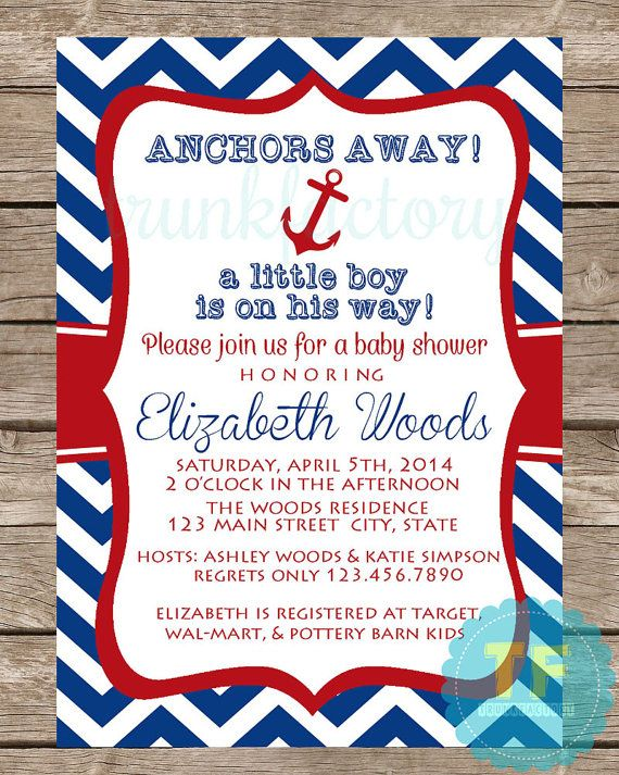 Away To The Woods Baby Shower Invitation