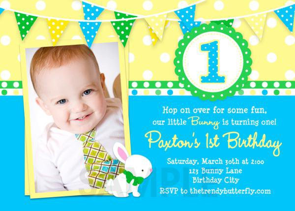 Baby First Birthday Invitations Free Printable