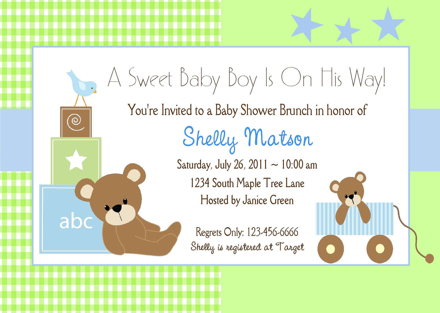 Baby Shower Invitations Boy Templates Free