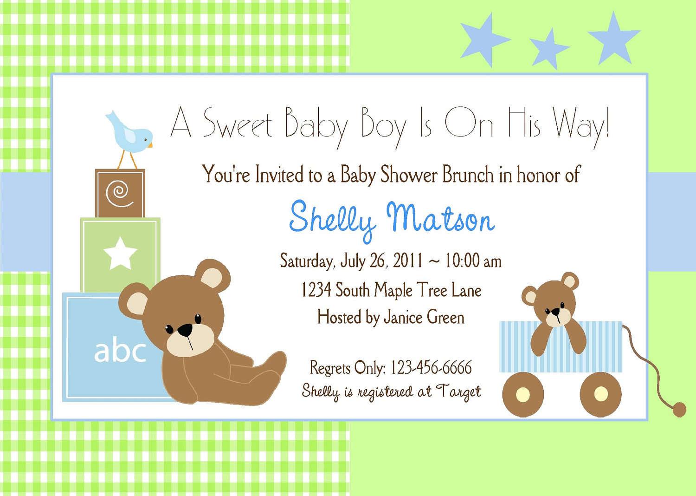 Baby Shower Invitations Boy Templates Free