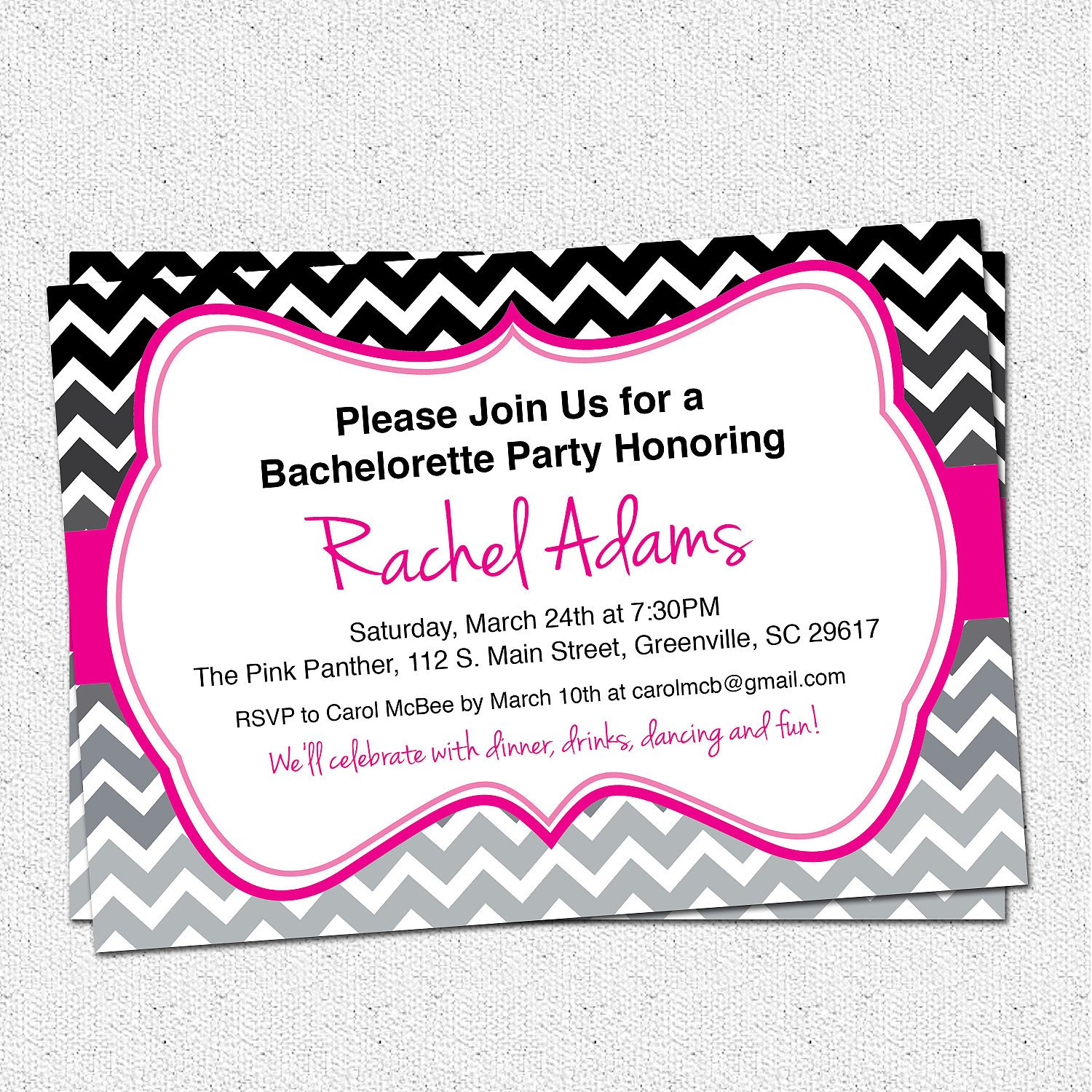 Bachelorette Party Invitations Printable Free