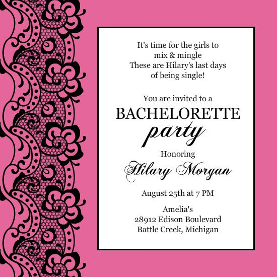 Party Invitations Templates – Bachelorette Party Invitation Templates