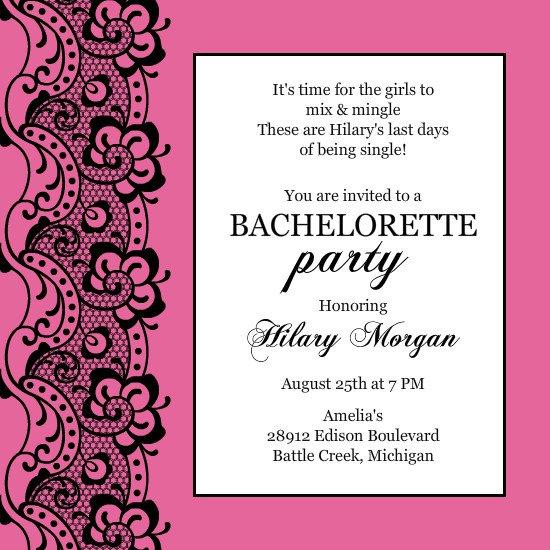 Bachelorette Party Invitations Templates