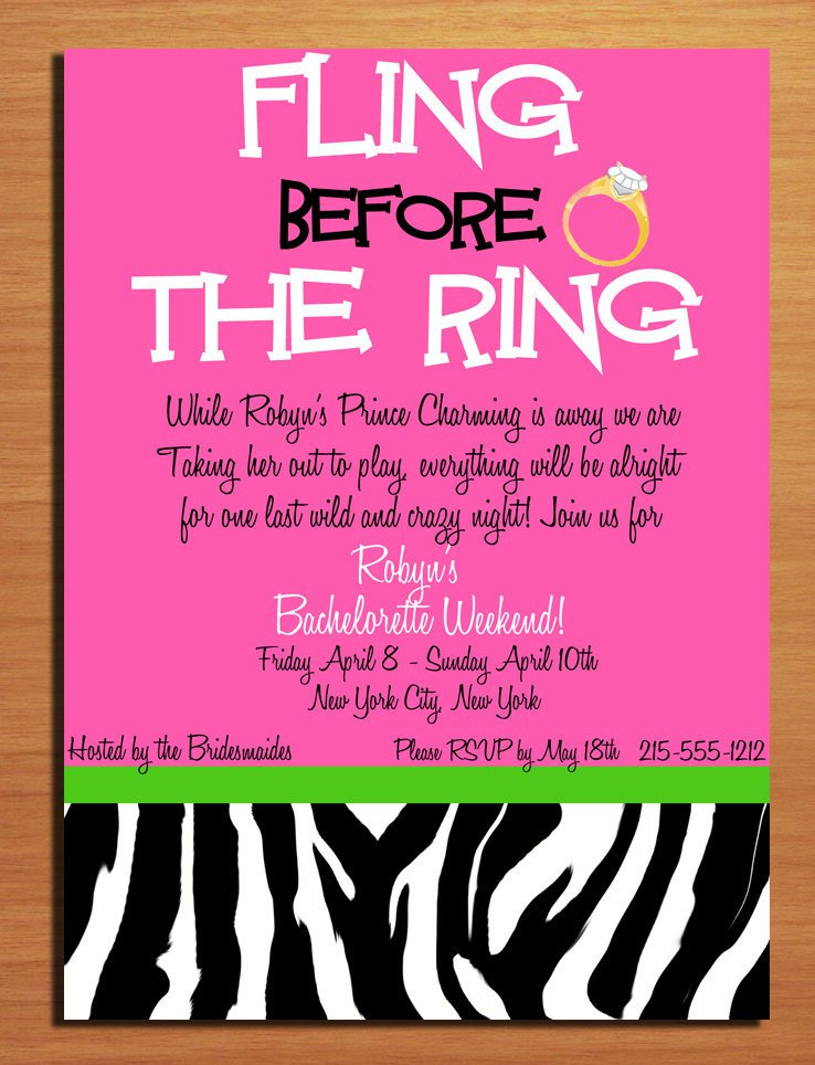 Party Printable Templates Free – Free Bachelorette Party Invitation Templates
