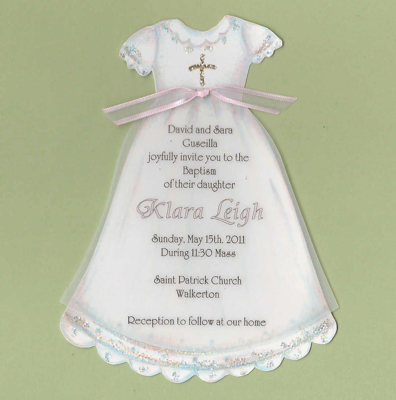 Baptism Dress Invitations Printable