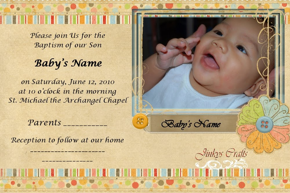 Sample of invitation card for christening and birthday image sample invitation letter baptism image collections invitation sample of invitation card for christening and birthday choice stopboris Choice Image