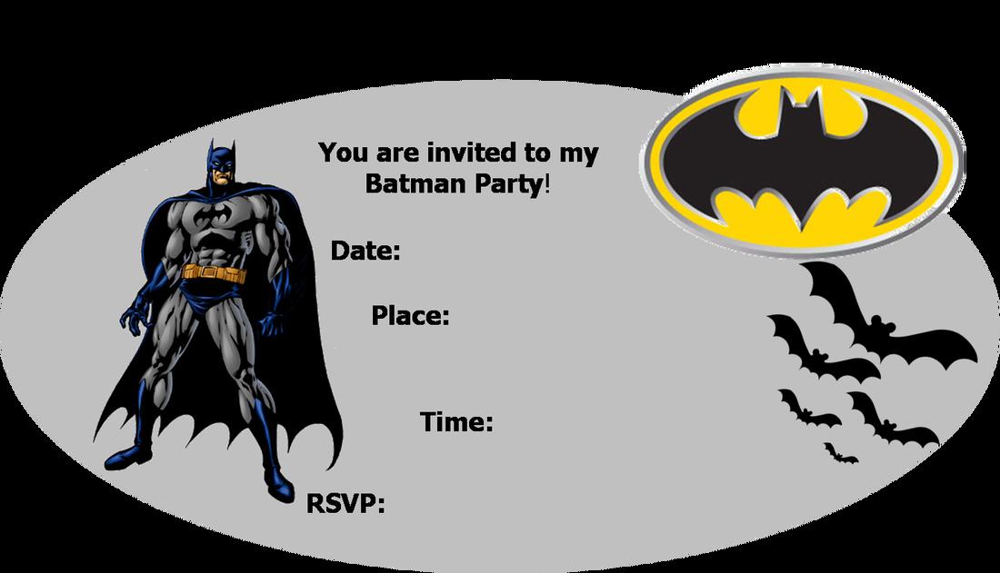 Batman Invitation Templates Free