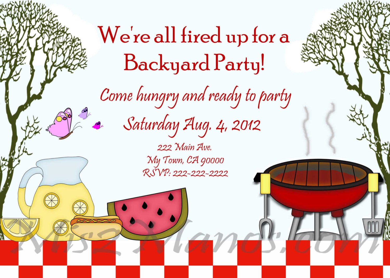 Bbq Birthday Party Invitation Templates