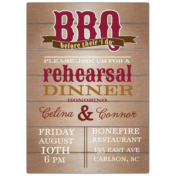 Bbq Rehearsal Dinner Invitations