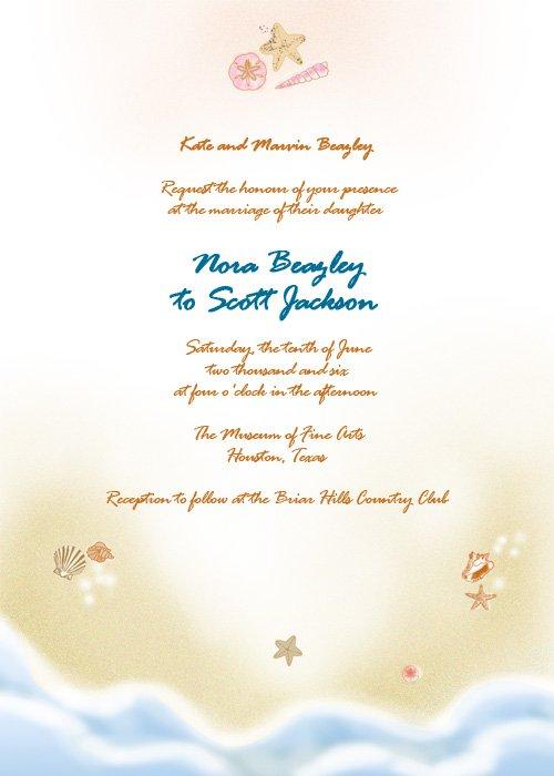 Beach Wedding Invitations Printable