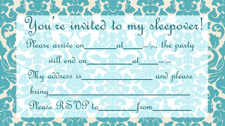 Best Slumber Party Invitations