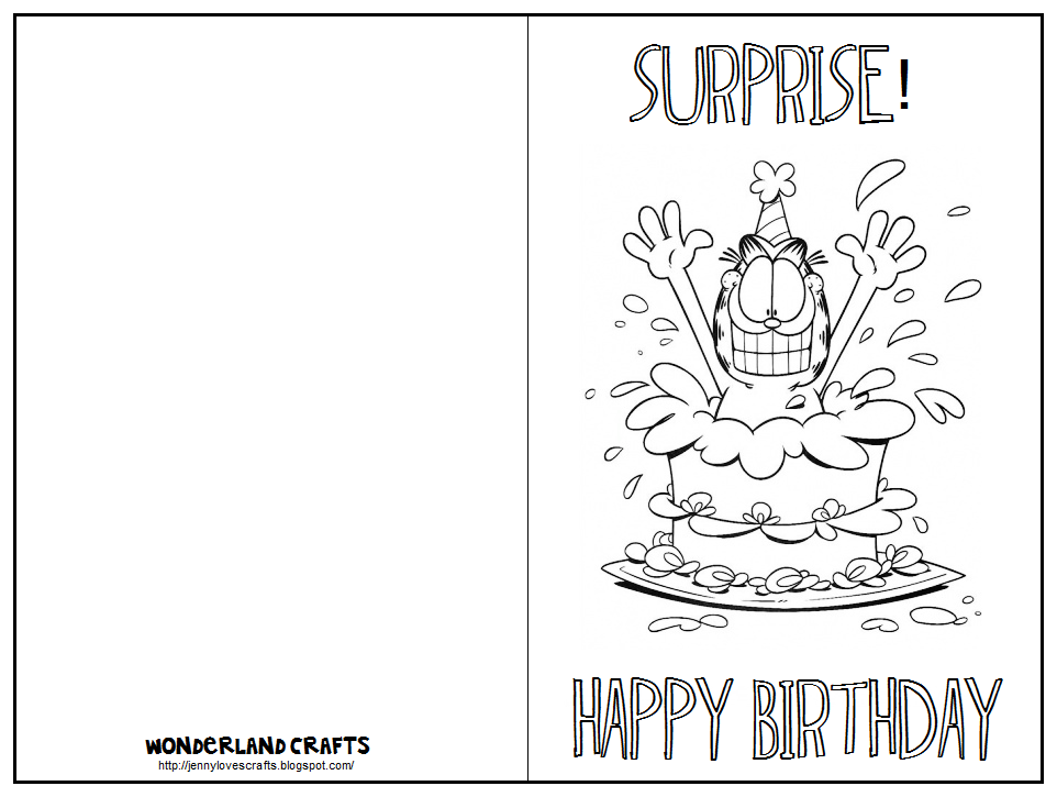Birthday Cards To Print For Free And Color