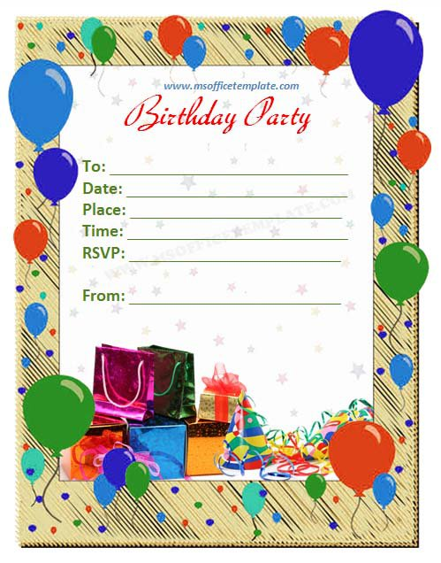 Birthday Flyer Invitation Template
