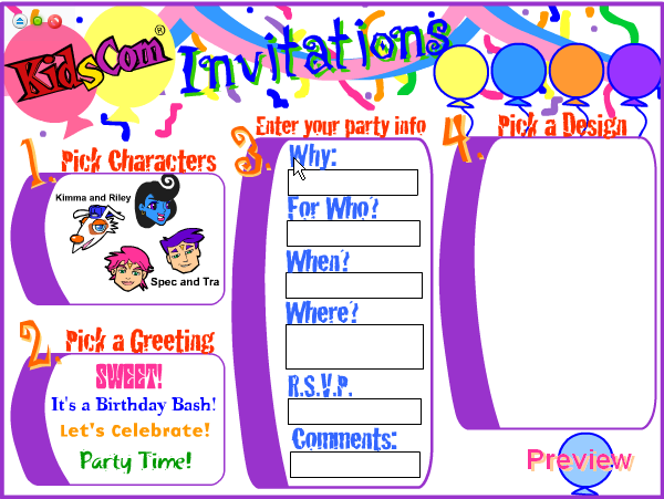 Birthday Invitation Cards Maker