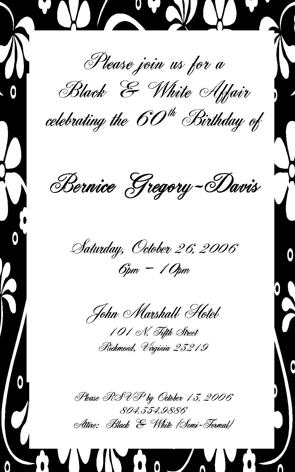 Birthday Invitation Example