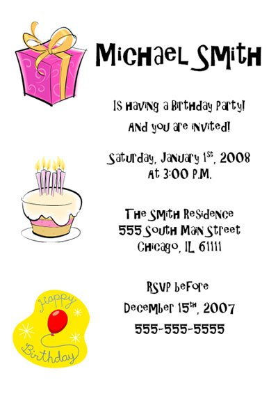 Birthday invitation example birthday invitation format 400 x 566 stopboris Gallery
