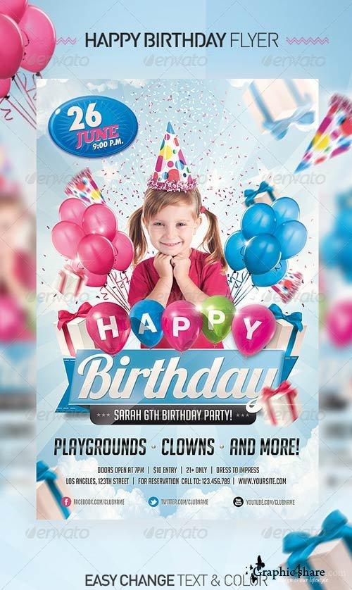 Birthday Invitation Templates Photoshop