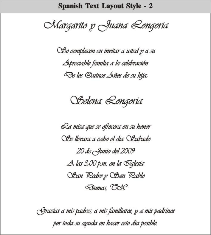Birthday Invitation Wording In Spanish