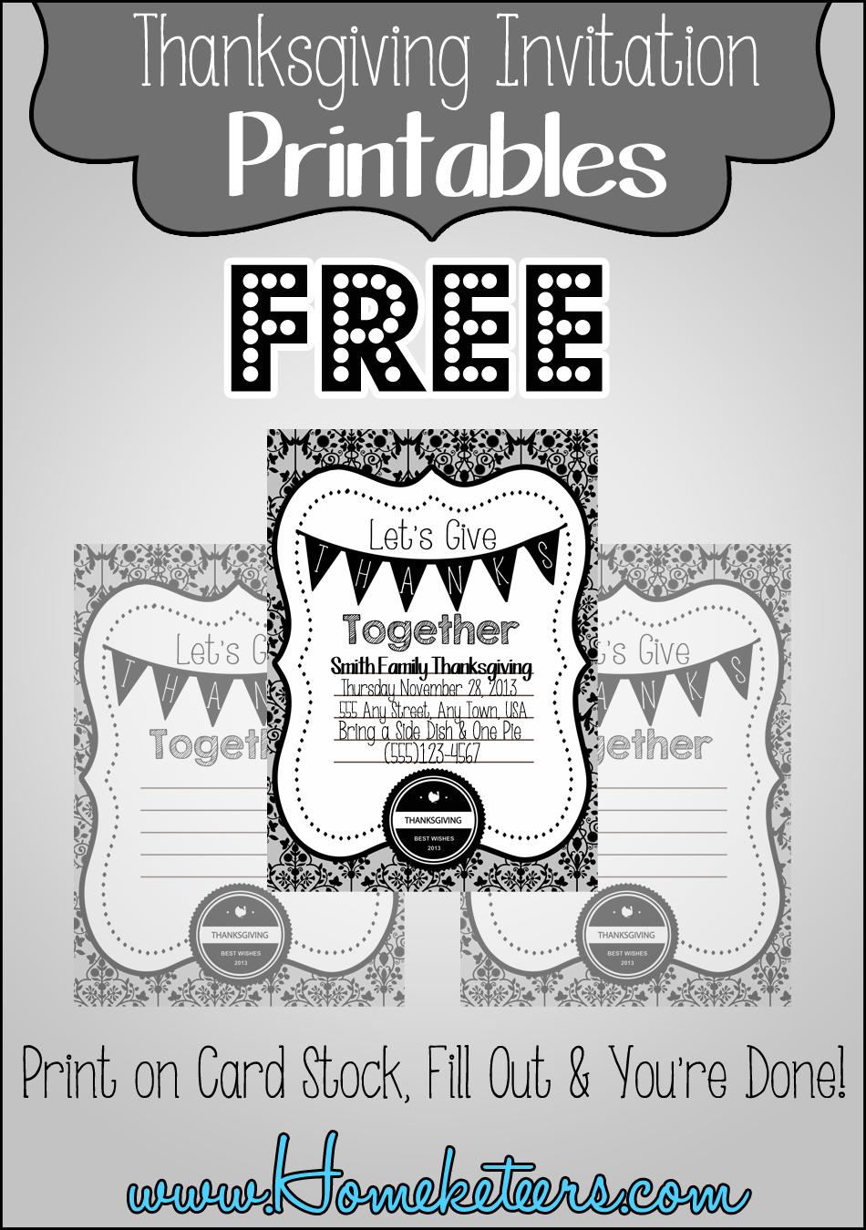 Birthday Invitations Printable Black And White Free