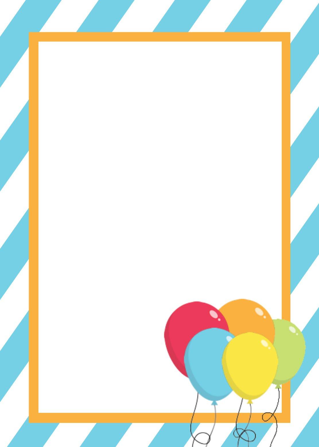 Birthday Party Invitation Blank Templates