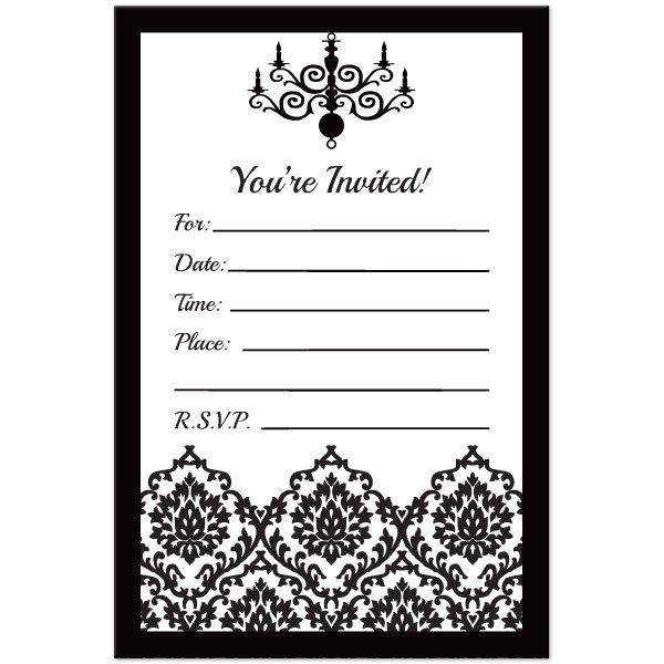 Damask Weding Invitations 03 - Damask Weding Invitations