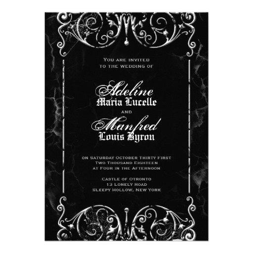 Black And White Blank Wedding Invitations