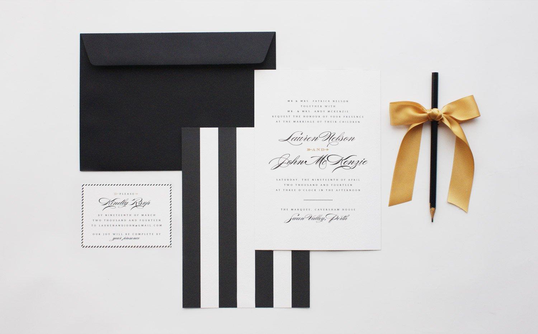 Black And White Invitation Paper