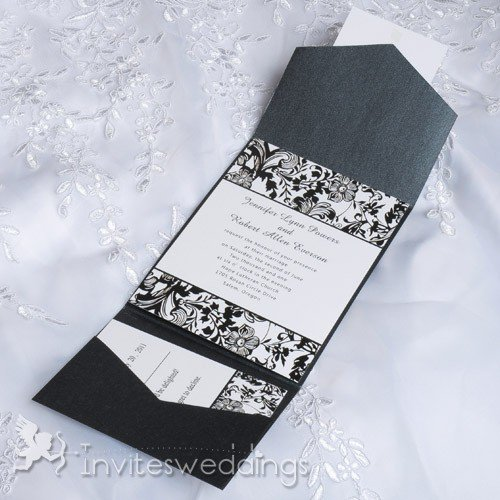 Black And White Wedding Invitations Cheap
