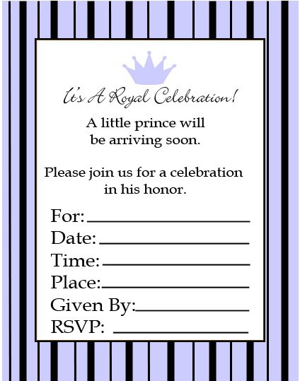 Black Baby Shower Invitation Cards