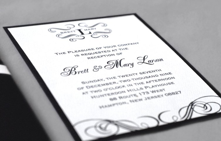 Ivory Wedding Invitation Kits: Black Wedding Invitation Kits