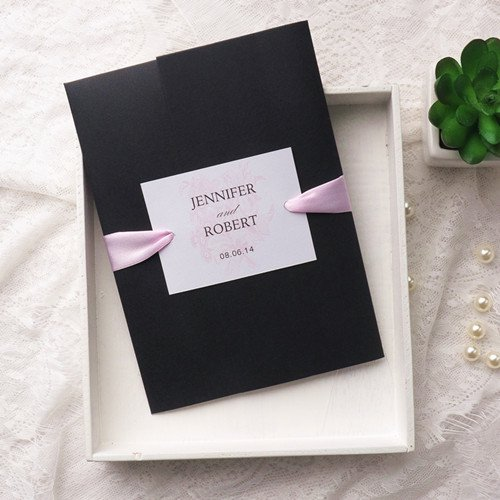 Black Wedding Invitation Kits