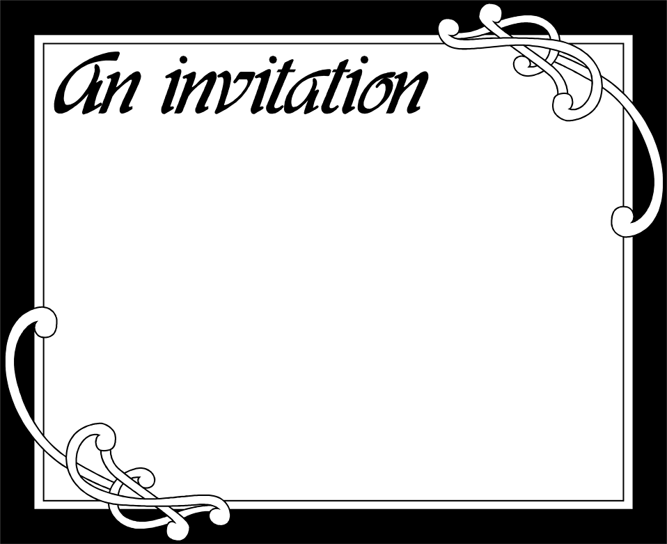 Blank Invitations Health