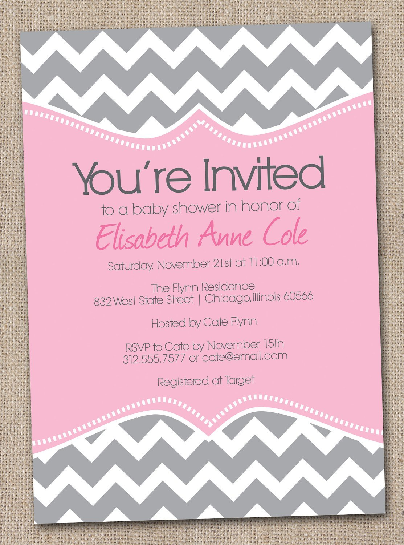 Blank Printable Baby Invitations