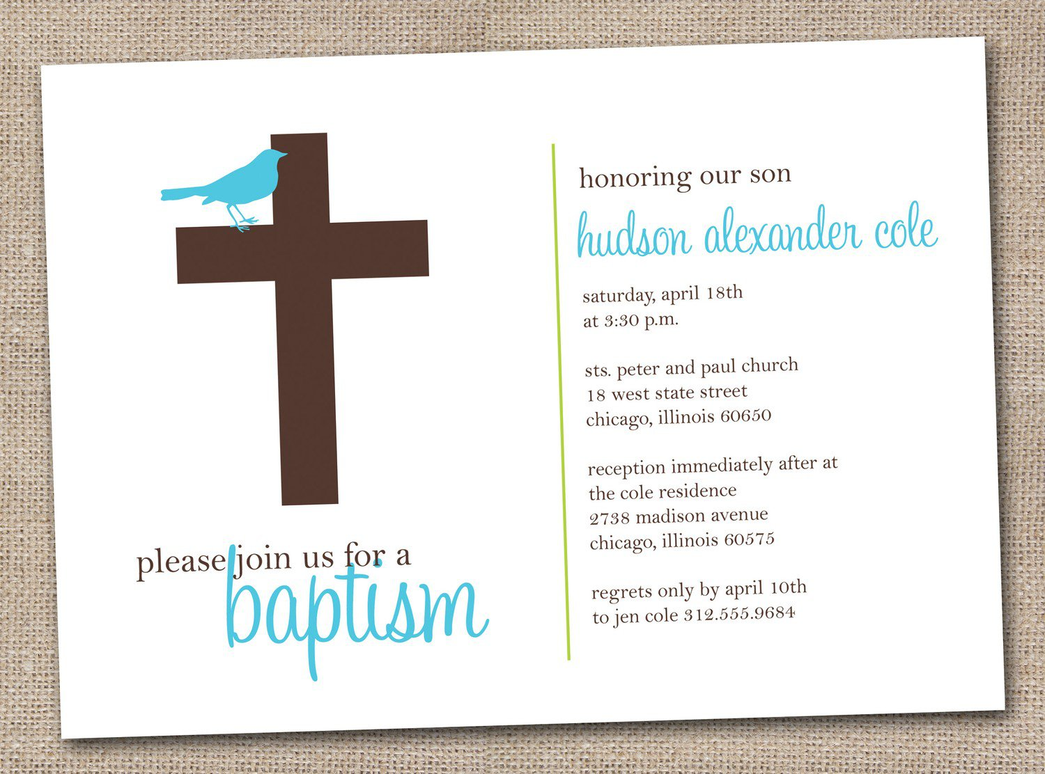 Boy Baptism Invitations Printable