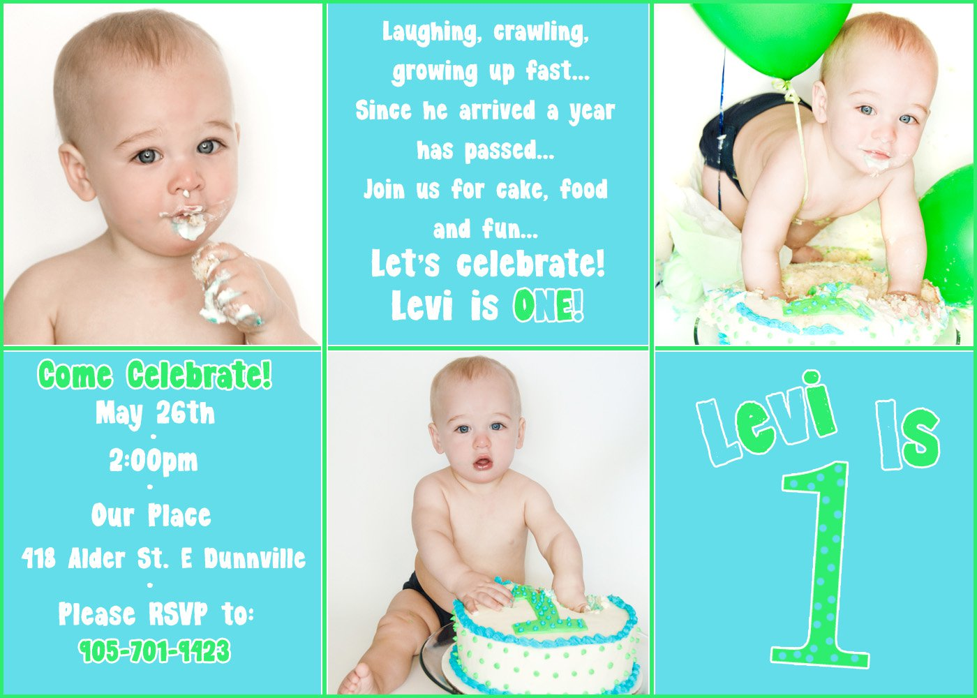 Boy First Birthday Invitation Templates