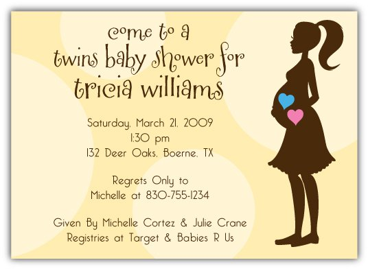 twin boy girl party invitations, Baby shower invitations