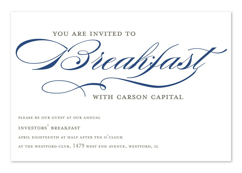 Breakfast Meeting Invitation Template