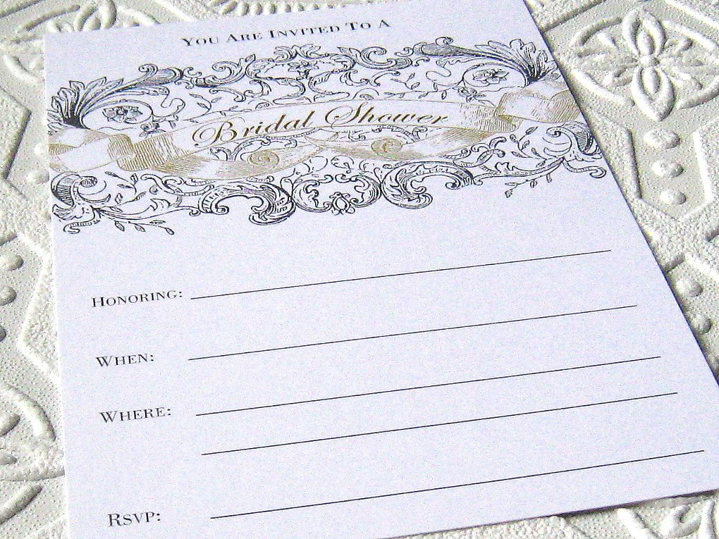Bridal Shower Invitations Fill In The Blank
