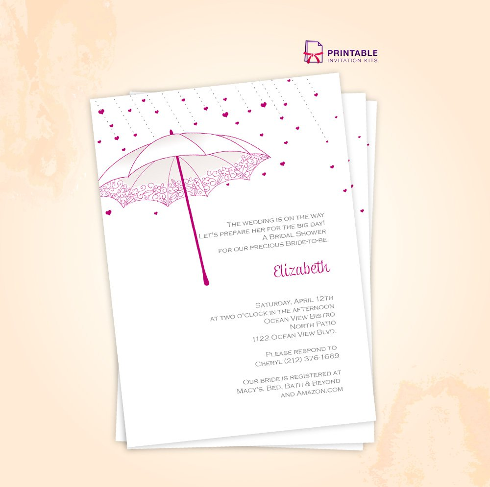 Bridal Shower Printable Invitation Kits