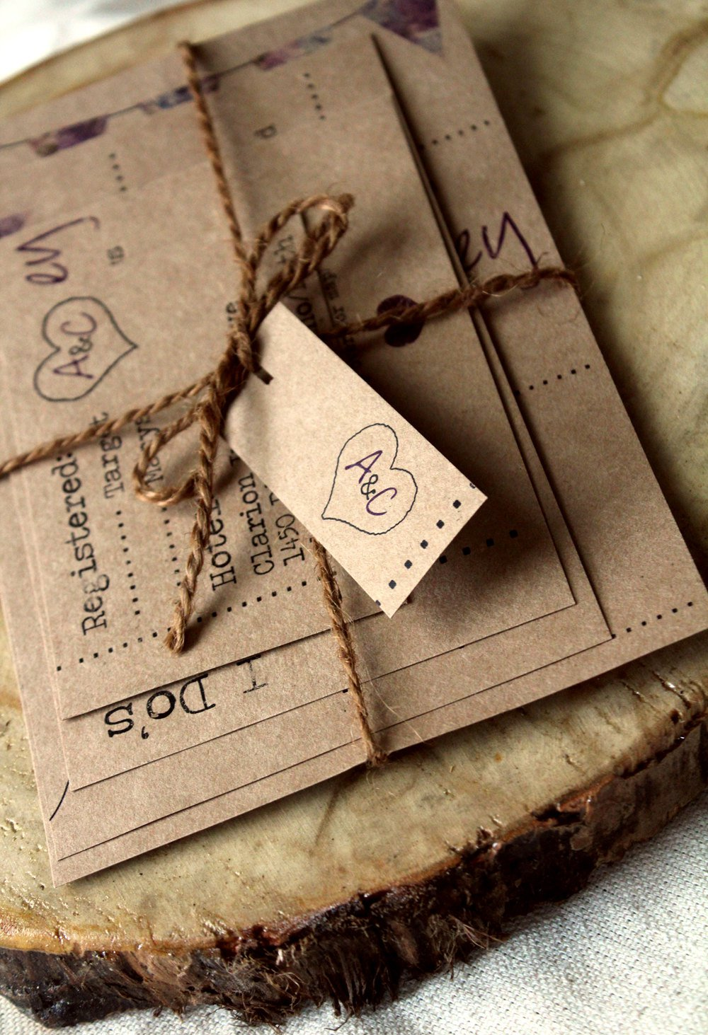 Brown Paper Invitations