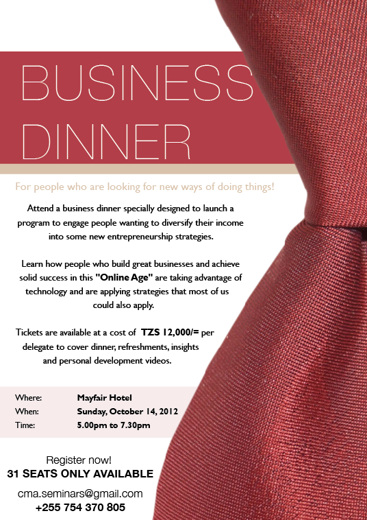Business Dinner Invitation