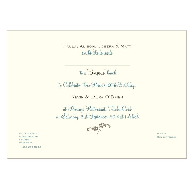 Luncheon Invitation Wording