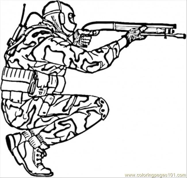 Camouflage Coloring Pages Free
